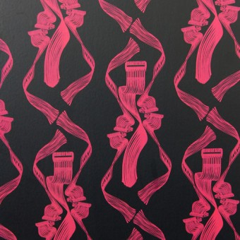 Dance! Wallpaper, Magenta on Black