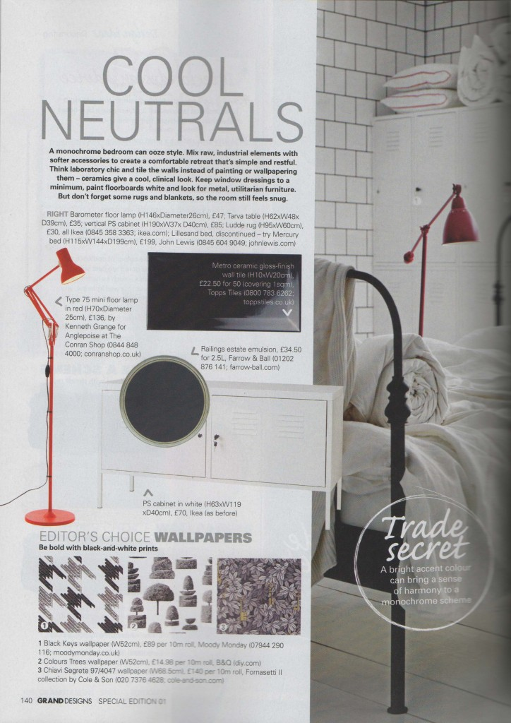 Cool Neutrals, Editor's Choice Wallpapers on Grand Designs Special Edition Magazine