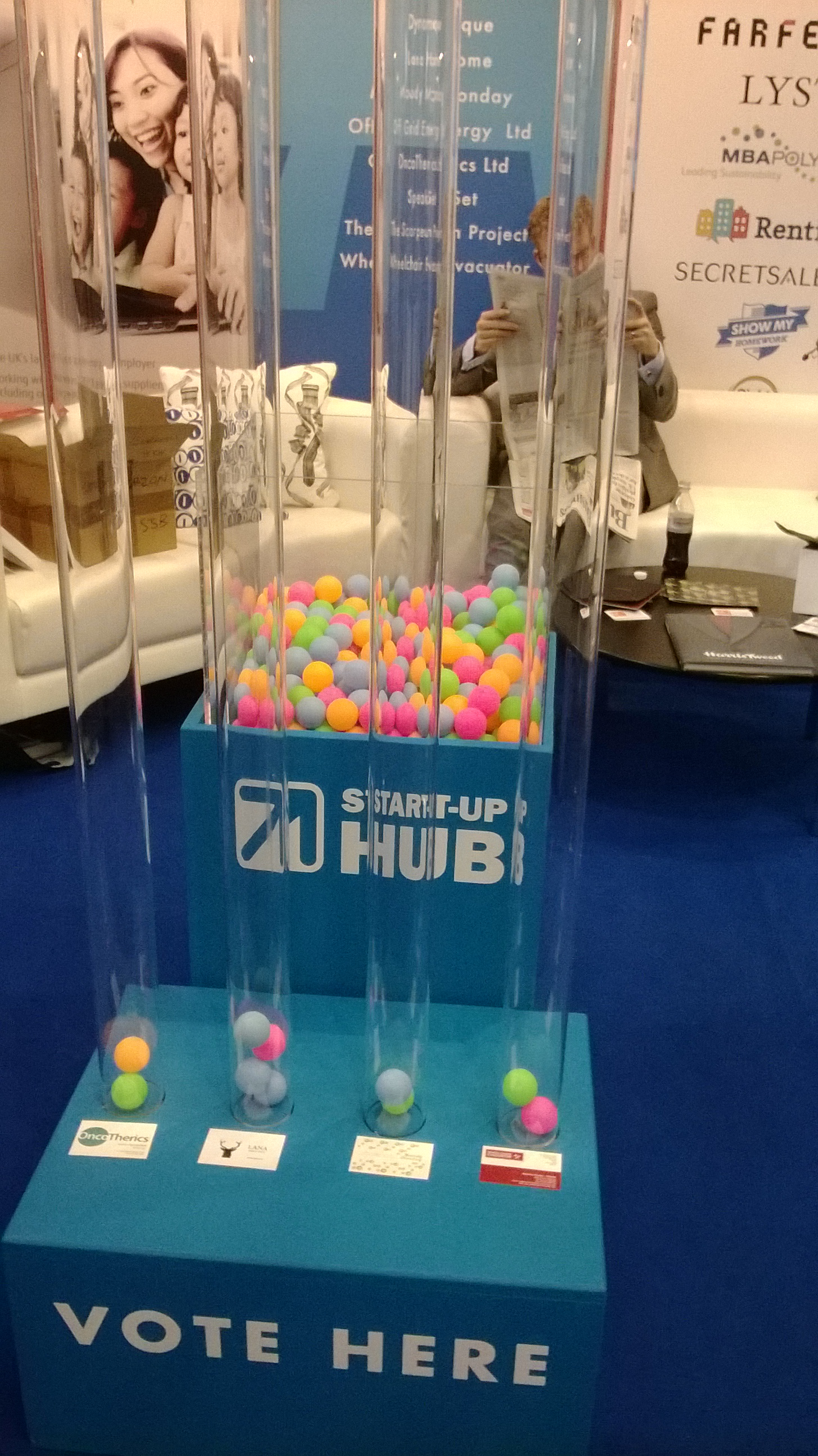 Vote for your favourite start up @ Start Up Hub stand