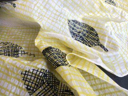 Hand-Printed Silk Scarf