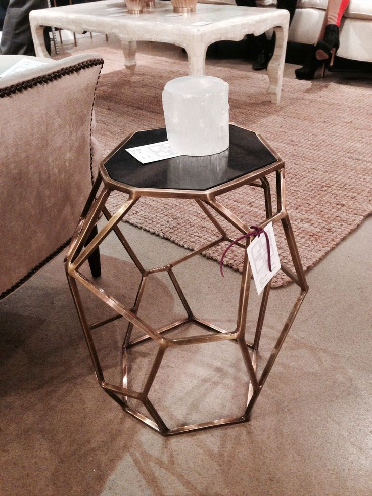 coffee table inspired by the look of beehives - Shape In Interior Design