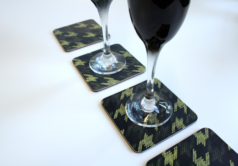 Blackkeys design coasters