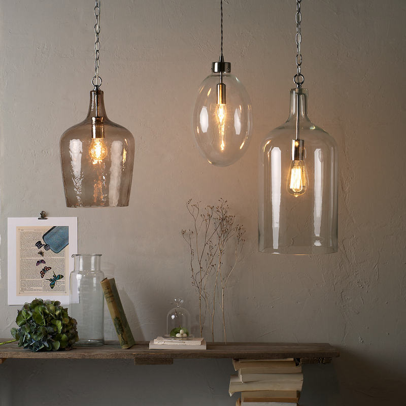 glass bottle lighting colored glass pendant an even more playful styling involves light fixture composed of pendant lights hung at different heights two our favourite examples are glass bottle lighting archives moody monday