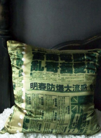 """Chinese Paper"" Silk Cushion"