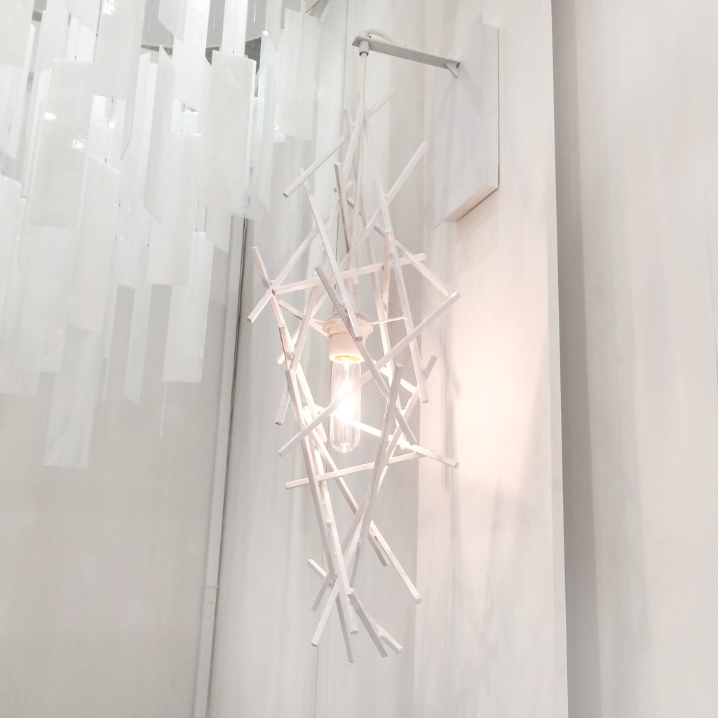 Zac Ridgely's Criss Cross wallsconce