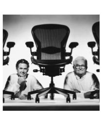 The iconic Aeron chair designed by Don Chadwick and Bill Stumpf. Photo: Herman Miller.com