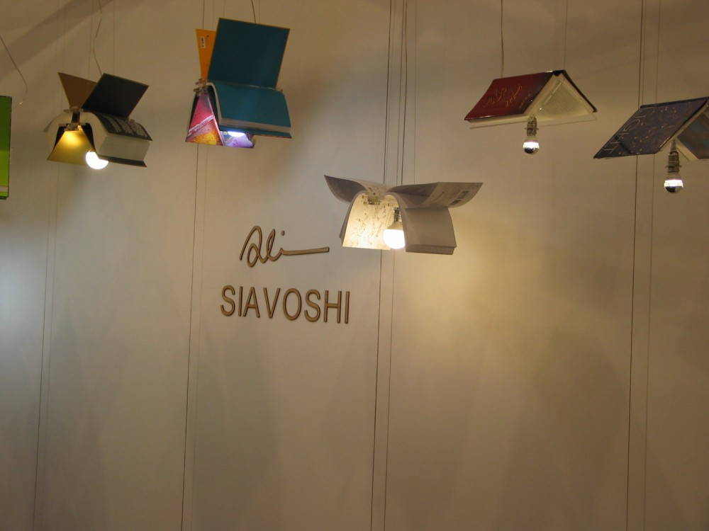 Ali Siavoshi lamps on display at ICFF 2016 New York