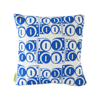 Modulate R.Blue on White Cushion (Front)