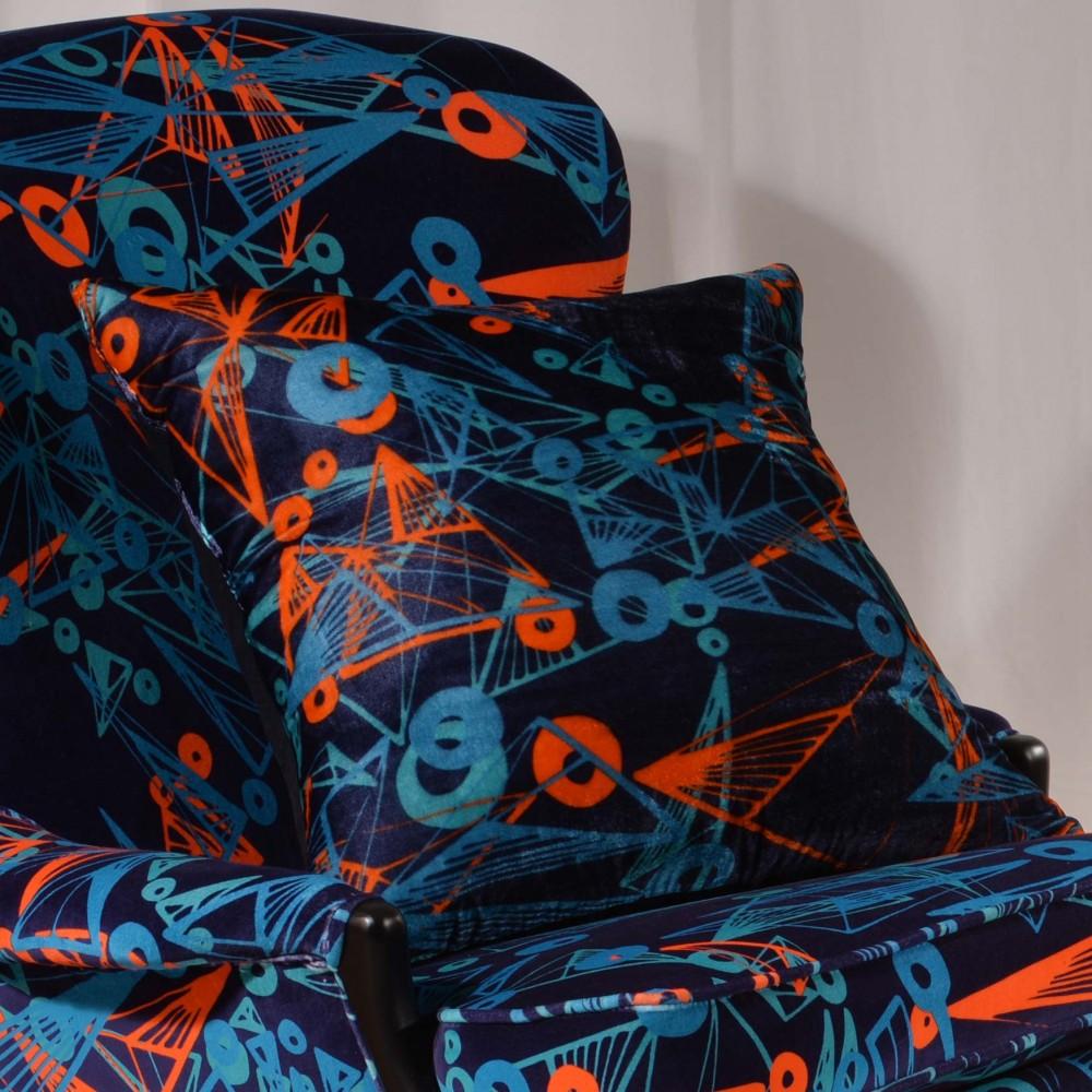 Nebulae cushion handcrafted cotton velvet cushions for Nebula fabric uk