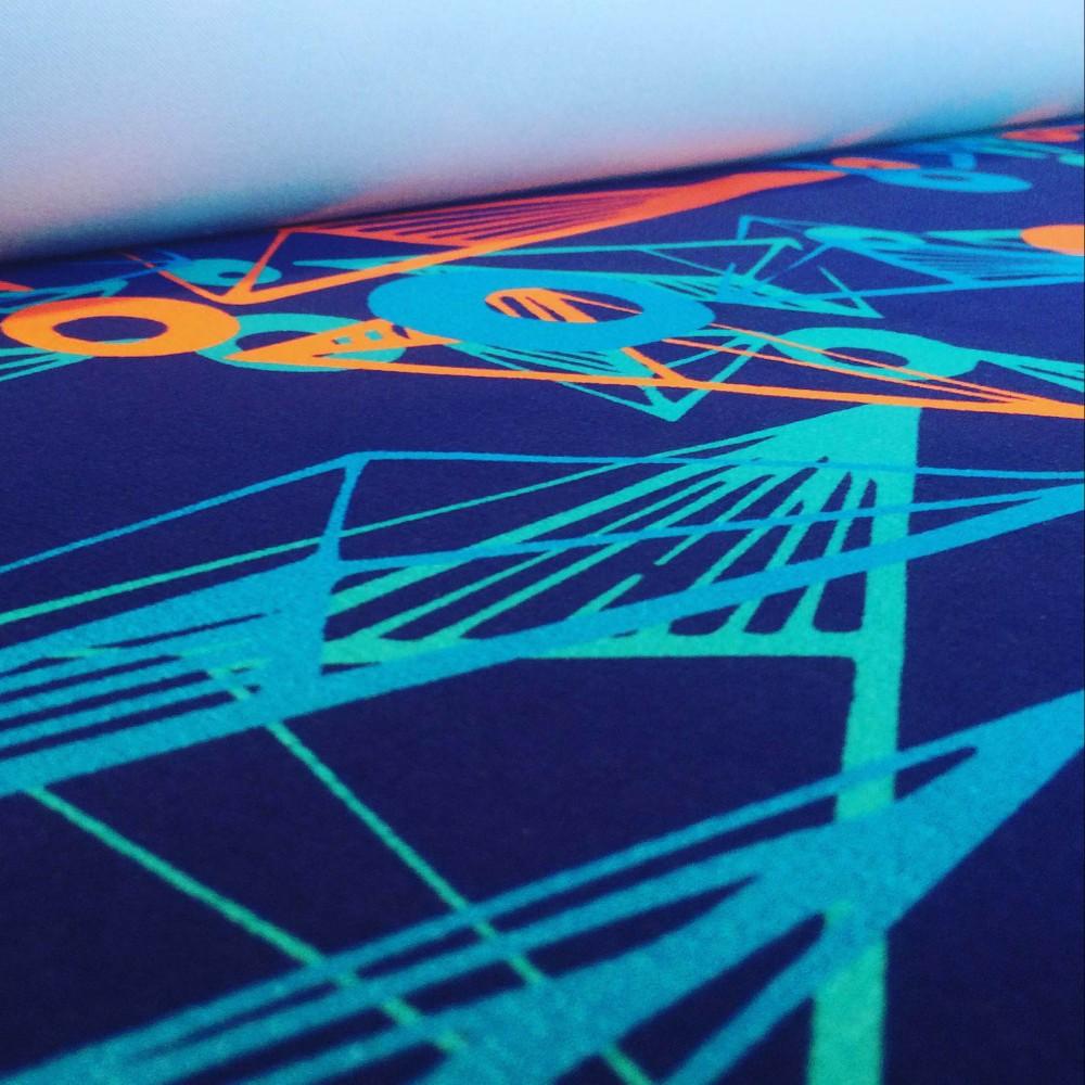 Nebulae fabric luxury digitally printed fabric for Nebula fabric by the yard