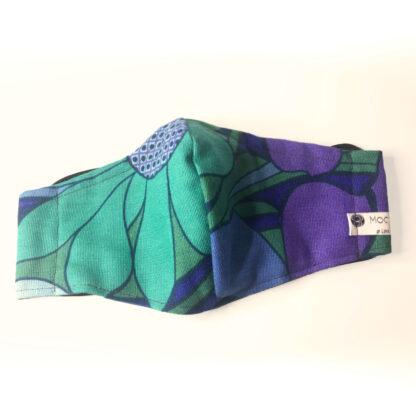 Vintage – Teal/ Purple/ Blue Floral - Front