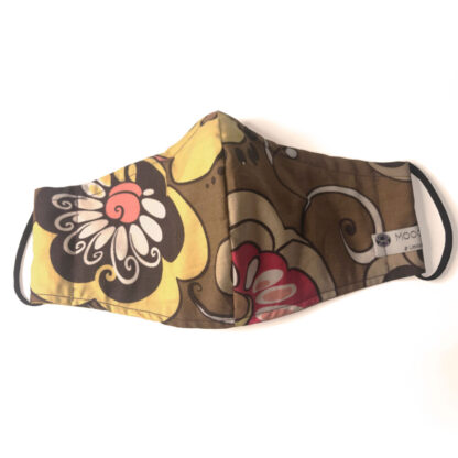 Vintage – Brown/ Yellow/ Red Floral - Front