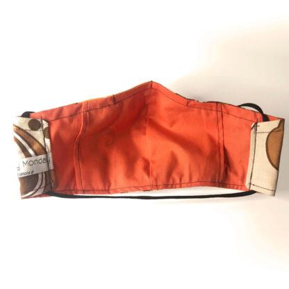 Vintage – Brown/ Orange/ Cream Floral - Reverse