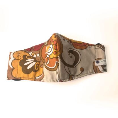 Vintage – Brown/ Orange/ Cream Floral - Front