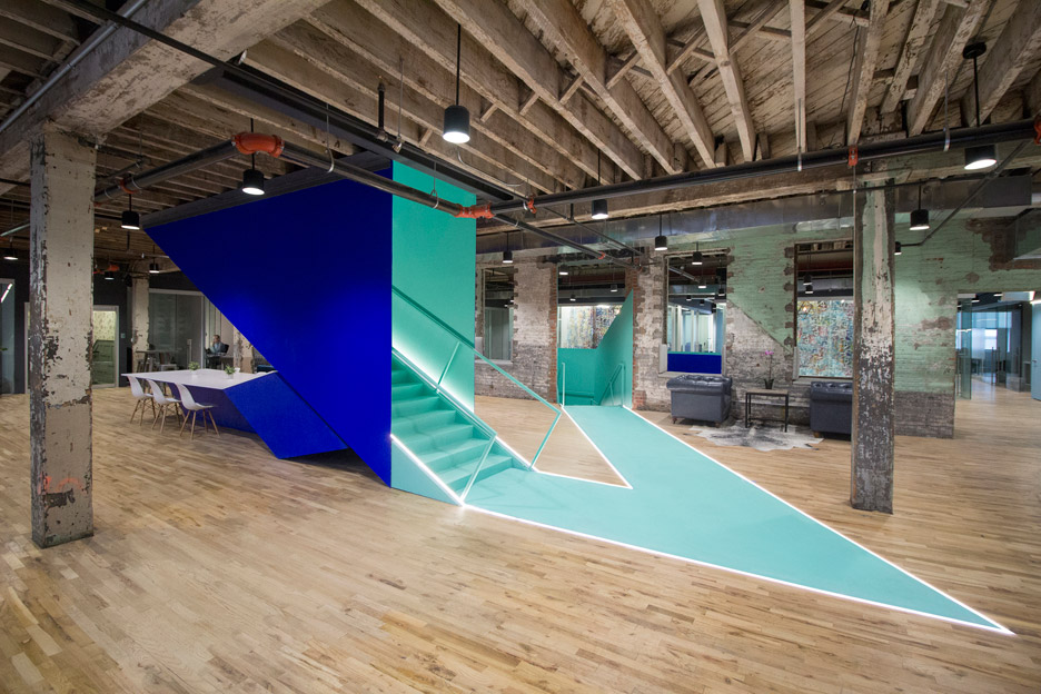 Coworks facility, Brooklyn, transformed by architects Leeser.