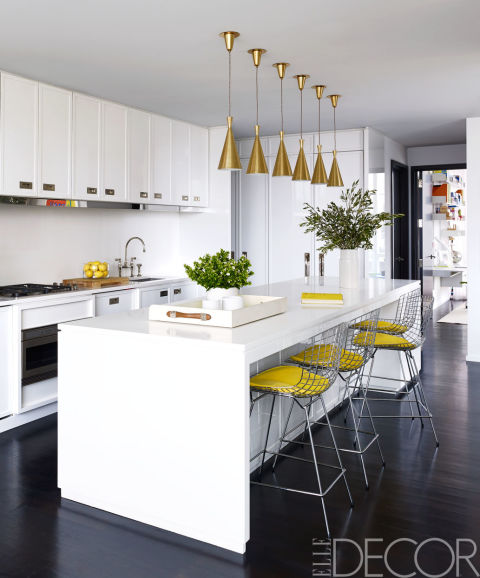 elledecor white modern kitchen