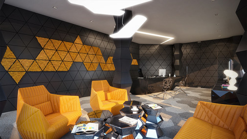 bee inspired interior design