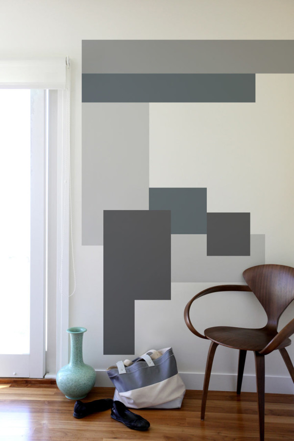 geometric interior wall covering